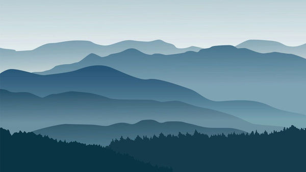 Misty Mountain Impression -  unique single-piece wallpaper from Pattern and Picture