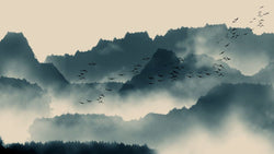 Morning Mist -  unique single-piece wallpaper from Pattern and Picture