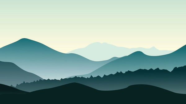 Mountain Panorama Impression -  unique single-piece wallpaper from Pattern and Picture
