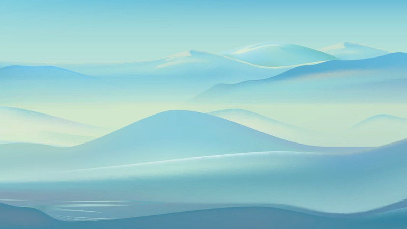 Mountain Waves -  unique single-piece wallpaper from Pattern and Picture