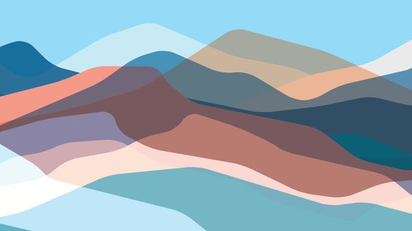 Multicoloured Mountains wallpaper from Pattern and Picture