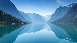 Norwegian Lake -  unique single-piece wallpaper from Pattern and Picture