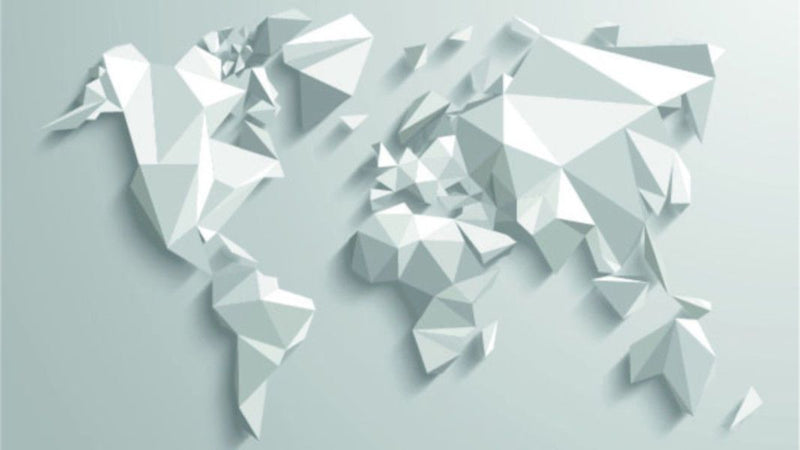Origami World -  unique single-piece wallpaper from Pattern and Picture