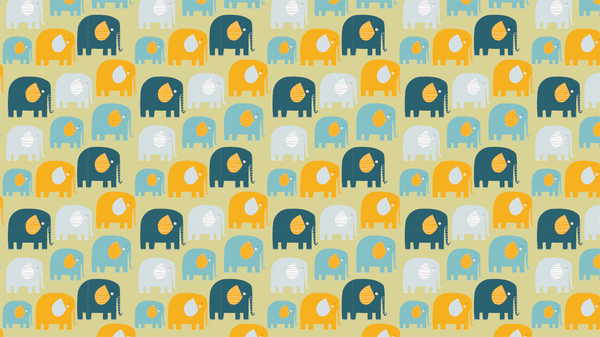 Patterned Elmer & Friends in Green