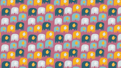 Patterned Elmer & Friends in Purple