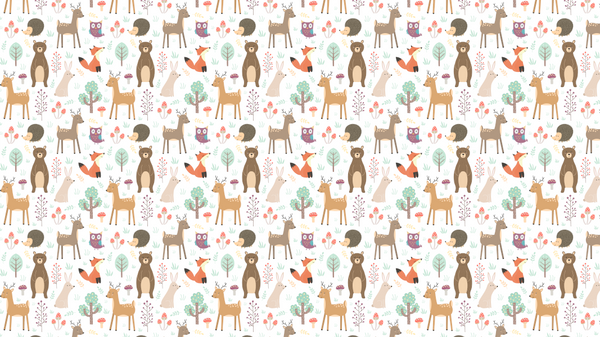 Patterned Forest Friends