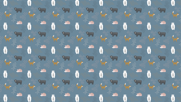 Patterned Hello Bear!