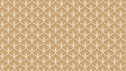Peacock Ochre art deco and geometric wallpaper from Pattern and Picture