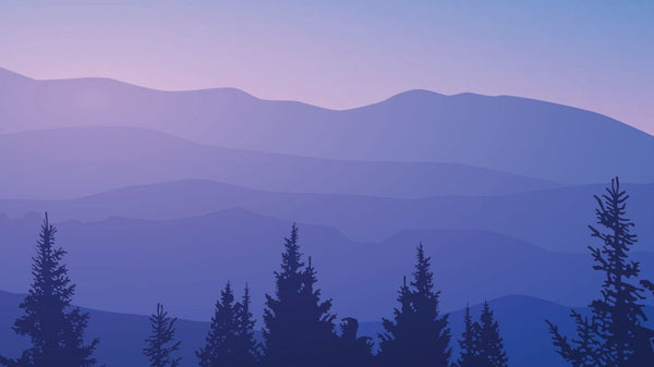 Purple Mountains and Trees wallpaper from Pattern and Picture