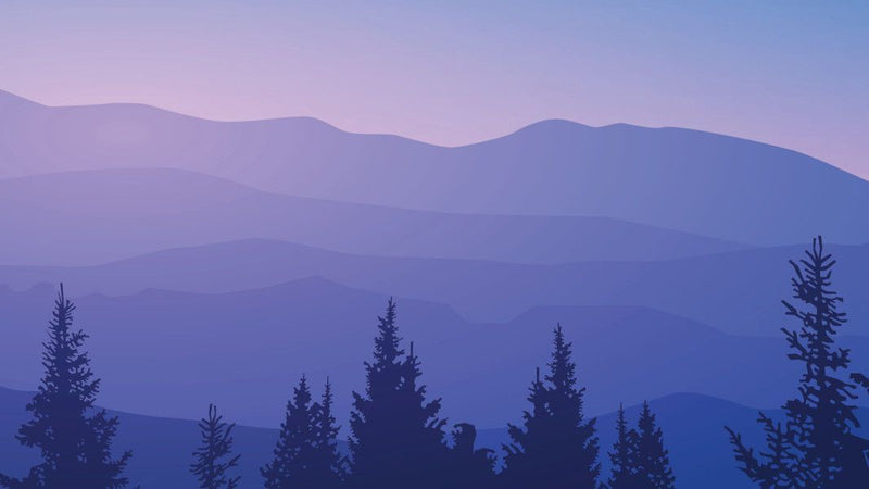 Purple Mountains And Trees
