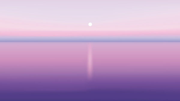 Purple Sunset -  unique single-piece wallpaper from Pattern and Picture