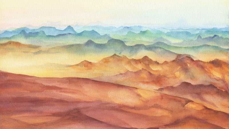Rocks and Desert Dunes -  unique single-piece wallpaper from Pattern and Picture