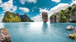 Scenic Thailand Seascape -  unique single-piece wallpaper from Pattern and Picture