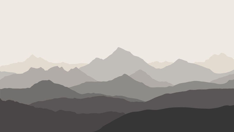 Shaded Mountain View -  unique single-piece wallpaper from Pattern and Picture