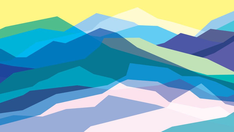 Sunny Valley Outline -  unique single-piece wallpaper from Pattern and Picture