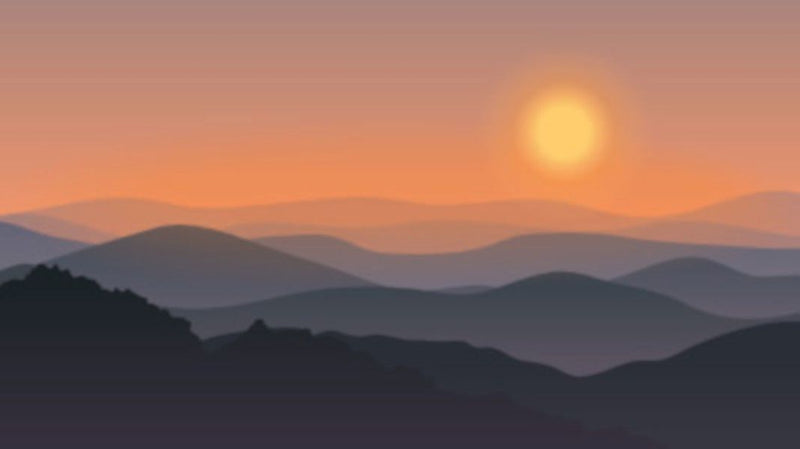 Sunset Over The Hills -  unique single-piece wallpaper from Pattern and Picture