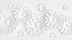 White Fiori -  unique single-piece wallpaper from Pattern and Picture