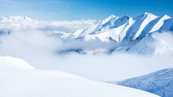 White Snowy Mountains -  unique single-piece wallpaper from Pattern and Picture