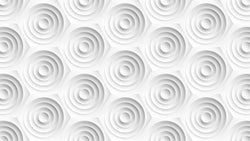 White Whirl -  unique single-piece wallpaper from Pattern and Picture