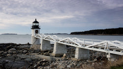 Winter Maine lighthouse