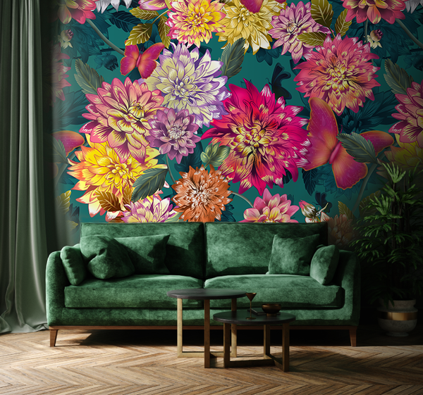 A floral wallpaper by Pattern and Picture (mock)