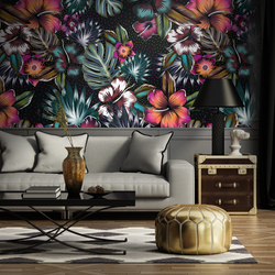 A designer floral wallpaper from Pattern and Picture (mock)