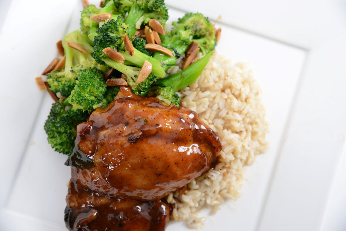 Coconut Amino Glazed Chicken Thigh