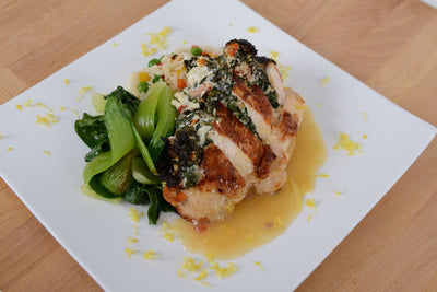 Stuffed Chicken Florentine w/ Lemon Veloute Sauce