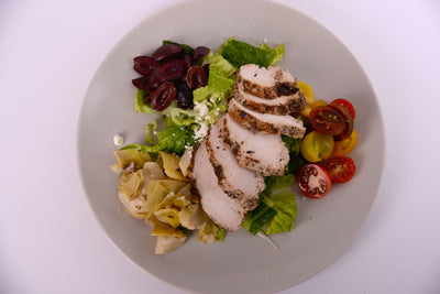 Mediterranean Salad w/ Organic Chicken Breast
