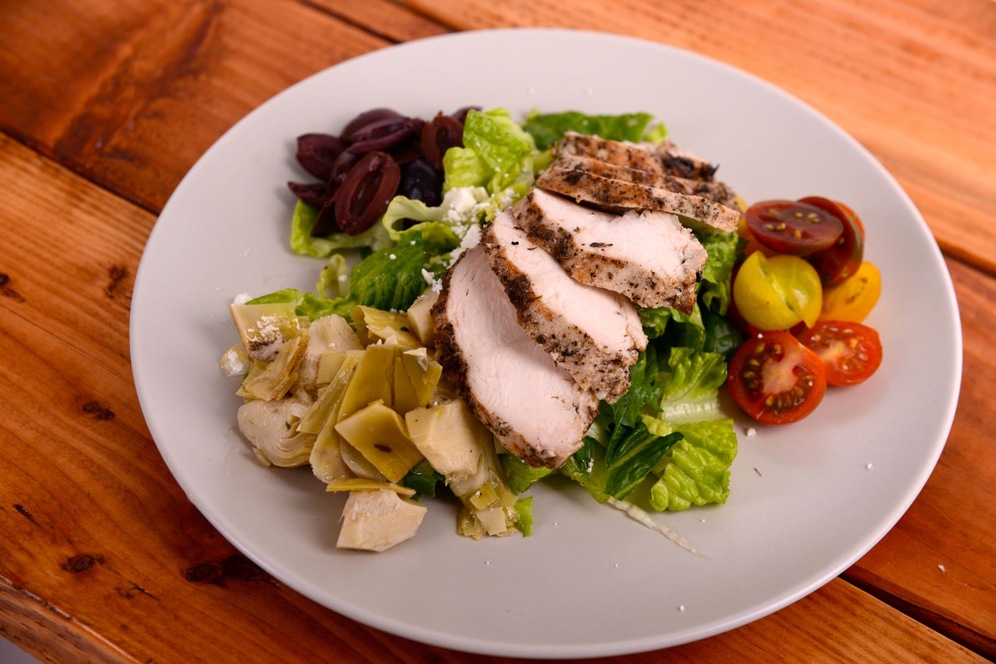 Mediterranean Salad w/ Chicken Breast or Salmon (Thursday 4/22 Delivery)