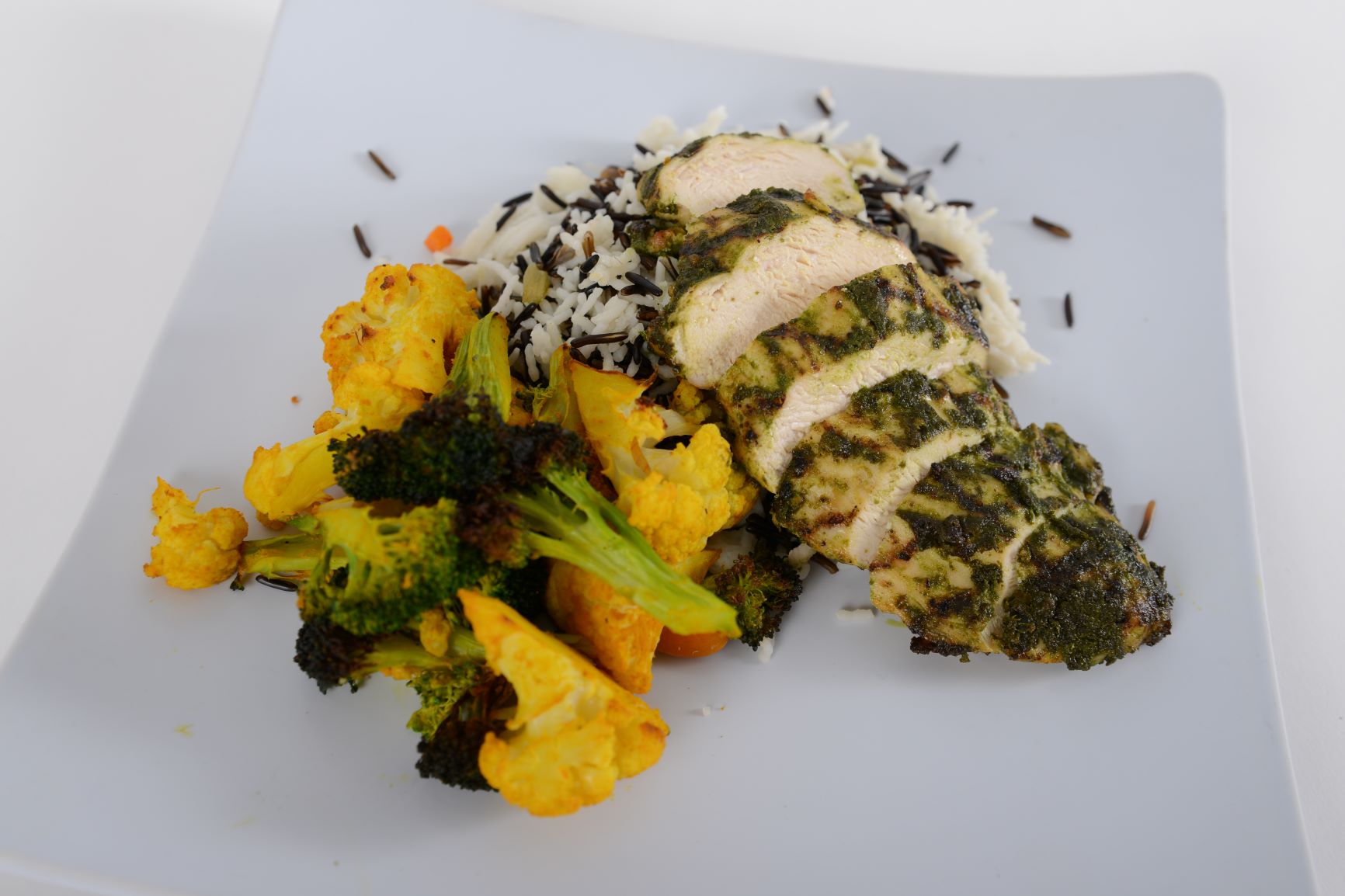 Grilled Organic Chicken Pesto