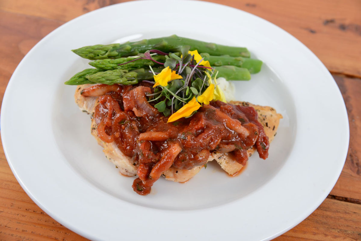 Pan Roasted Herb Chicken Breast w/ Sauce Chasseur