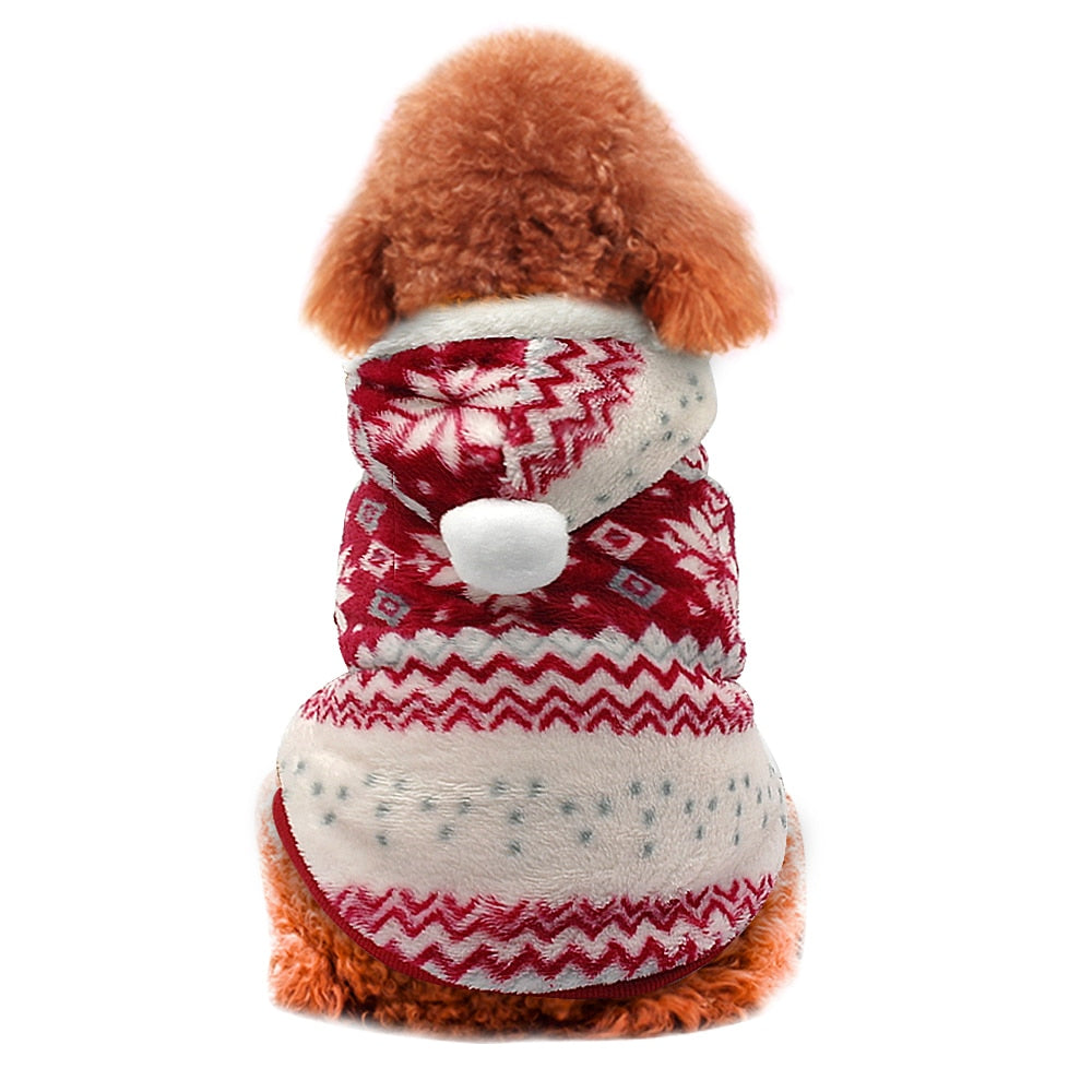Christmas Winter Pet Coat