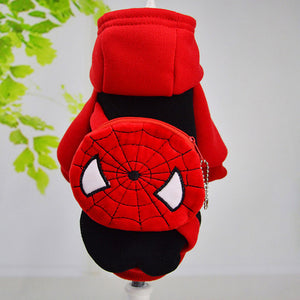 Warm Winter Dog Hoodie with backpack design
