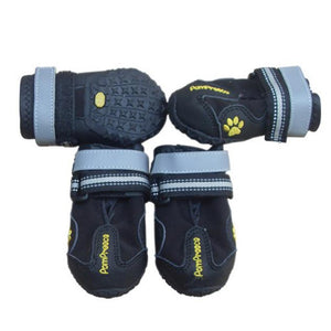 Outdoor Sport Rubber Dogs Boots - Non slip