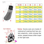 Autumn Winter Outdoor Waterproof Dog Socks - Anti slip