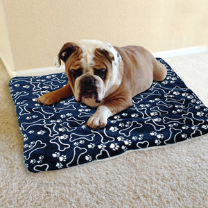 Paw print bed mat