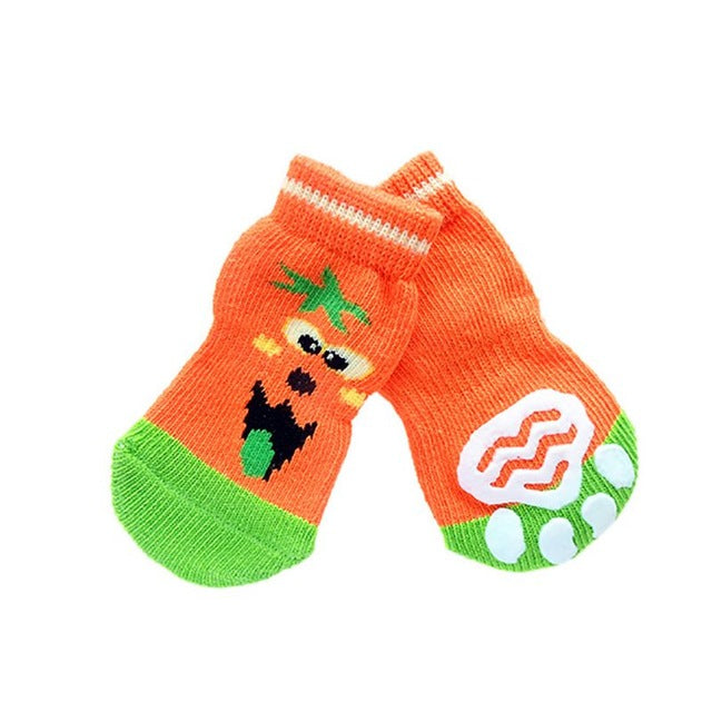 Soft Cotton Anti-slip Christmas Dog socks