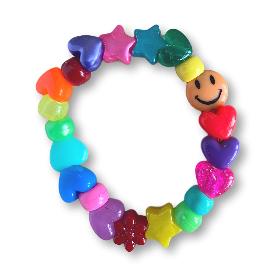 Beaded Fun Bracelet - Rainbow