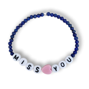 Miss You beaded bracelet