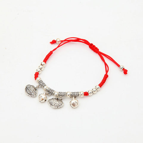 Austrian Crystal Thin Red Thread String Bracelet - USA Fashions