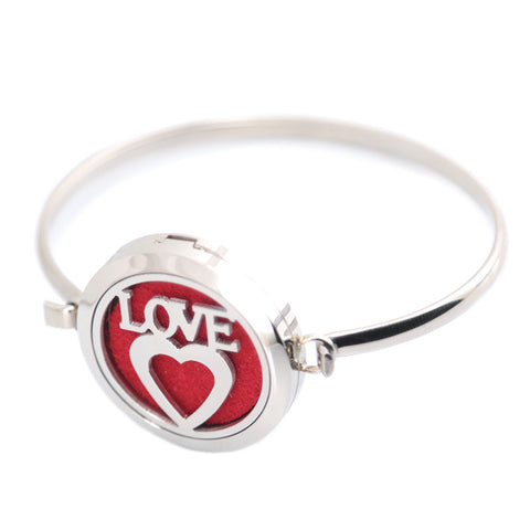 Silver Heart love Bracelet - USA Fashions