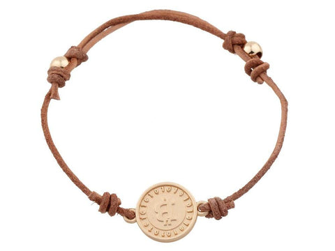 Bitcoin Charm Leather Bracelet - USA Fashions