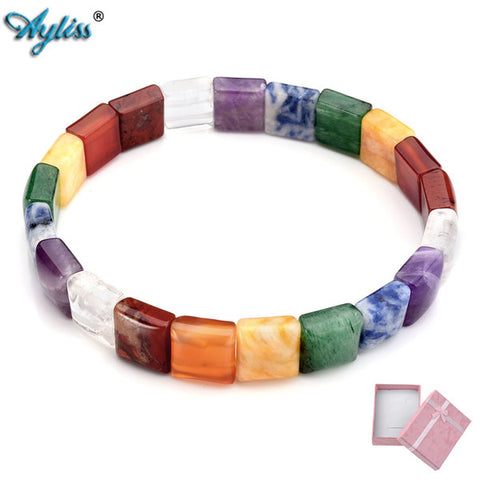Seven Chakra Beaded Bracelet - USA Fashions