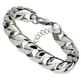 Gold Stainless Steel Curb Chain Link Bracelet - USA Fashions
