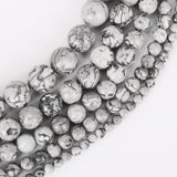 Natural Grey Map Stone Beads Loose Bracelet - USA Fashions