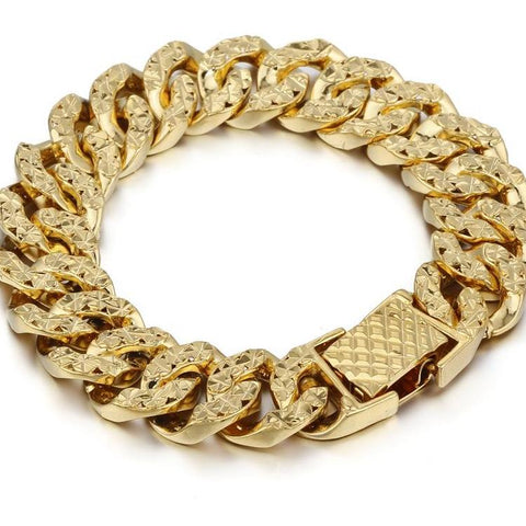 Curb Gold Chain Bracelet - USA Fashions
