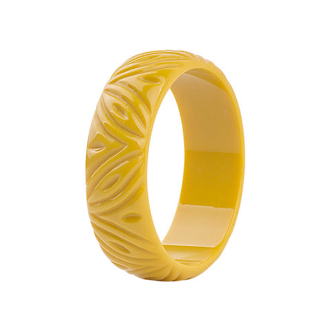 Fashion Engrave Carved Resin Bangle Bracelet - USA Fashions