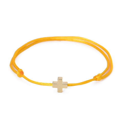 Simple Cross Red String Adjustable Braiding Bracelet - USA Fashions