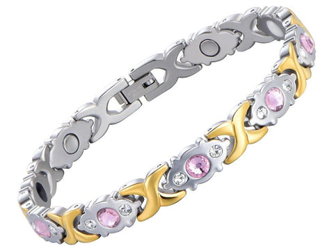 Magnetic Crystal Gold Chain Bracelet - USA Fashions